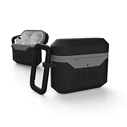 Urban Armor Gear UAG AirPods Pro Case, Hard Case (Version 2) Rugged Weatherproof Protection Case/Cover Designed for AirPods Pro (2019), Wireless Charging Compatible (AirPods Not Included) – Black