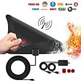 #10: TV Antenna 60 Miles Reception Range Window HDTV Antenna Aerial with Detachable Amplifier Signal Booster 200 Inch Coaxial Cable