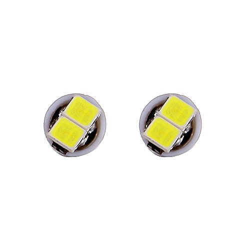 cciyu 10 Pack 2-2835-SMD T5 Instrument Cluster Indicator Led Bulbs White Light w//Twist Lock Replacement fit for 1997-2012 Honda CR-V