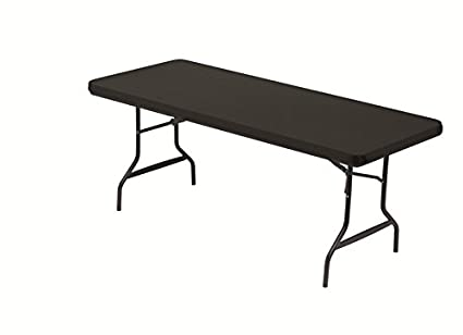 Iceberg 16621 Stretch Fabric Table Top Cap Cover, Polyester/Spandex, Black,  6