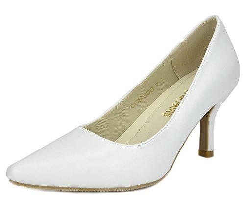 White Pump Low PAIRS Shoes Womens Comodo Heel DREAM Stiletto 7Y8fqcqt