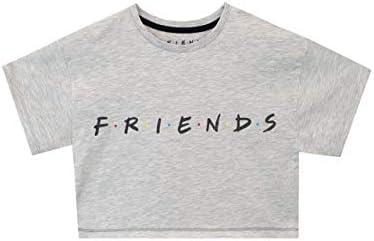 Friends Maglietta t-Shiirt Crop Maniche Corta per Ragazze