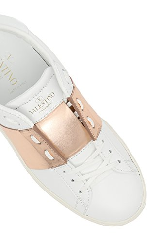 sneakers 37 rame Garavani 833 ROCKSTUD scarpe bianco donna in PW2S0781FLR Valentino pelle RZAwqEw