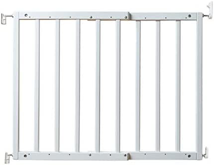 """Primetime Petz 33720 Safety Mate Expandable Pet and Baby Gate, Sturdy Wall Mountable Safety Gate for Hallways, Stairs, or Outdoor Use, Fits Openings from 24.5"""" to 41"""", White"""