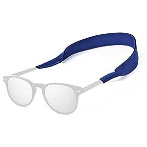 Top Sunglasses Straps | Super Comfy Adjustable Neoprene Sunglass Straps and Glasses Strap | Anti Wear Slip Collision Eyewear Retainer Cord | Securely Retain on Head Neck | Unisex | Blue | 335.2