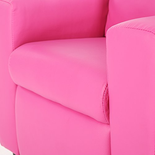 31wjagy0DGL - Harper&Bright Designs Kids Recliner with Cup Holder PU Leather Sofa Chair for Child (Pink)