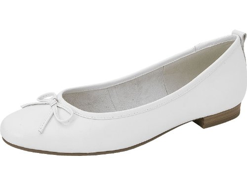 Tamaris Damen Ballerinas Weiß Ballerina