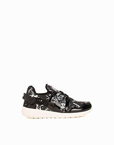 Asfvlt - Zapatillas de Material Sintético para mujer, color Negro, talla 40 EU