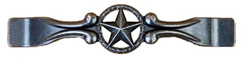 Set of 6 Drawer Handle Star with Barbwire Cabinet Pull Western Southwest Rustic Texas (Oil Rubbed Brass)