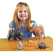 Jumbo Plastic Forest Animals with Storage Box