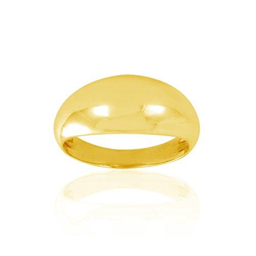Tousmesbijoux Bague bombée en Or jaune 375/00