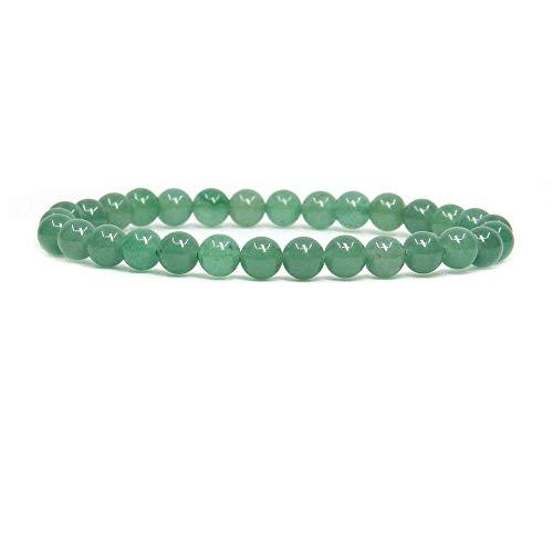 Natural Green Aventurine Gemstone 6mm Round Beads Stretch Bracelet 7