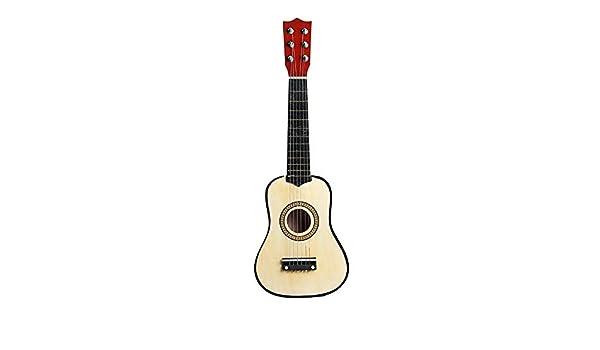 Guitarra clásica Pequeño Tamaño 21 Pulgadas de 6 Cuerdas de la ...