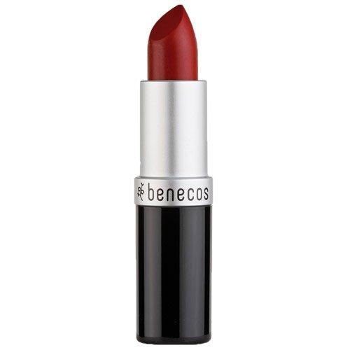 Benecos Natural Lipstick (Catwalk) - Beautiful Deep Red Shade - Long Lasting Gorgeous Color, Soft & Smooth Moisturized Lips, Organic, Vegan
