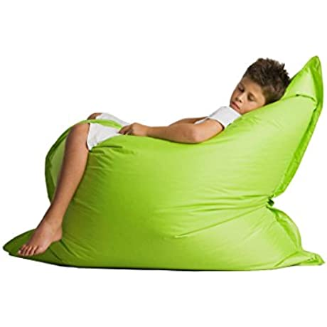Alta Regular Bean Bag Chair Big Sofa Cover Made Stain And Water Resistant For Indoor And Outdoor Use 49 X 49 Lime