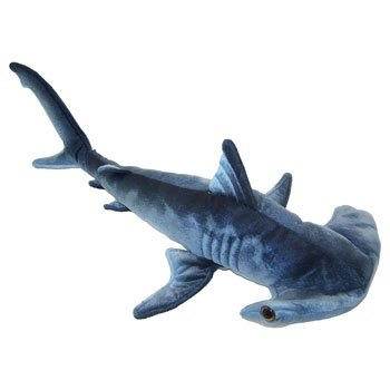 Blue Printed Hammerhead Shark Plush Toy 24