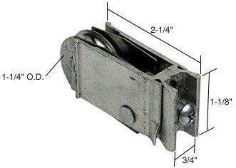 CRL 1 1/4u0026quot; Steel Sliding Glass Door Roller With 3/4u0026quot