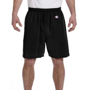 Champion Men's 6-Inch Black Cotton Jersey Shorts - X-Large