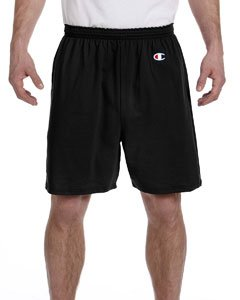 -  Champion Men's  6-Inch Black   Cotton Jersey Shorts - X-Large
