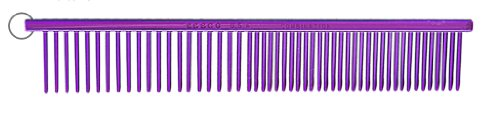 Resco US-Made Combination Comb for Dogs and Cats, Purple