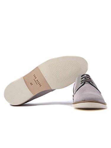 Ted Baker Herren Light Grau Siablo Perforated Wildleder Schuhe