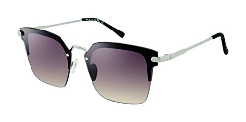 Elie Tahari Women's Th697 Slvox Square Sunglasses, Silver / Black, 54 - Tahari Sunglasses Elie
