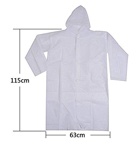 (Acutech Rain Poncho Family Pack for Woman/Man Lightweight and Durable-EVA Material-Clear/White Color 1)