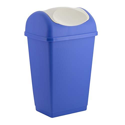 axentia 235686 Poubelle, Plastique, Bleu, 39,5 x 31 x 65 cm