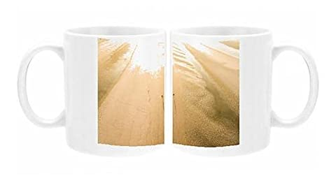 Photo Mug of Camber Sands Beach at sunrise, Camber, near Rye, East Sussex, England, United - 0 White Camber
