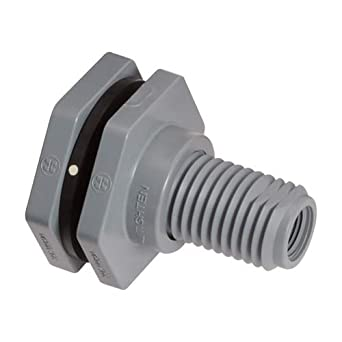 Socket x Threaded End Hayward BFA1060CES Series BFA Standard Flange Bulkhead Fitting PVC with EPDM Seals 6 Size 6 Size Hayward Industries Inc.
