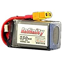 New Infinity 4S 14.8V 550mAH 70C Lipo Battery with XT60 Plug Connector By KTOY