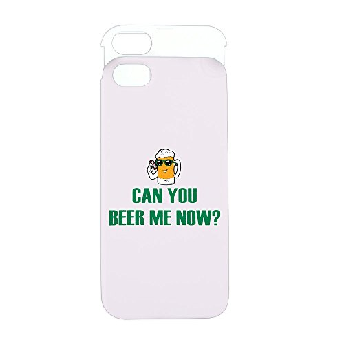 iPhone 5 or 5S Wallet Case Pink and White Can You Beer Me Now Beer Mug (Case Light Coors)
