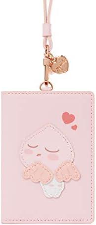 [オフィシャル] カカオフレンズ - ハートアピーチ ネックストラップ付 カードケース KAKAO FRIENDS - Heart Apeach Wallet Necklace