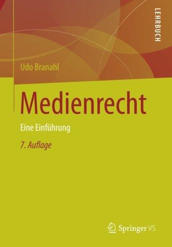 Medienrecht: Eine Einführung (German Edition) by Springer VS