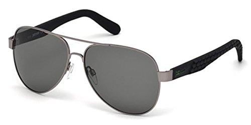 JUST CAVALLI Sunglasses JC650S 08N Shiny Gumetal / Green - Sunglasses Men Lv
