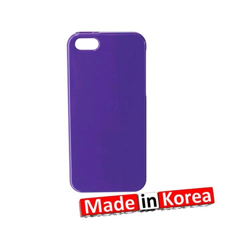 Reiko PSC101 IPHONE5PP manucure-Jelly Case-Coque silicone pour iPhone 5 Violet