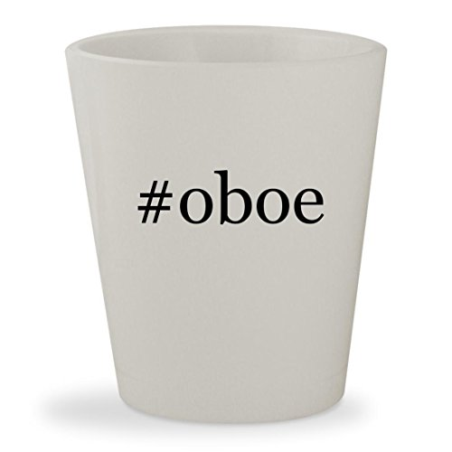 #oboe - White Hashtag Ceramic 1.5oz Shot Glass