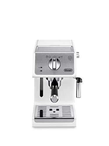 (De'Longhi ECP3220W 15 Bar Espresso Machine with with Advanced Cappuccino System, White)