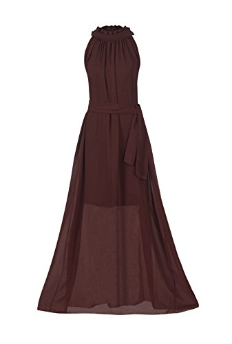 Howriis-Womens-Brown-Chiffon-Wedding-Party-Bridesmaid-Formal-Dress-One-Size-Brown