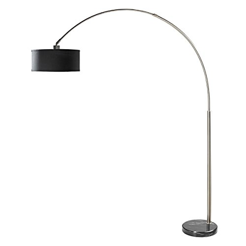 Milton Greens Stars Sophia Adjustable Arc Floor Lamp with Marble Base, 81-Inch, (Square Green Marble)