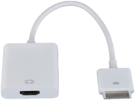 2d52f1e74f3 Adaptador Conector Dock Cable a HDMI Macho Blanco para iPhone 4 4s iPad 2 3