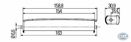 HELLA 2PT 980 860-851 LED Kit de feux diurnes Droite