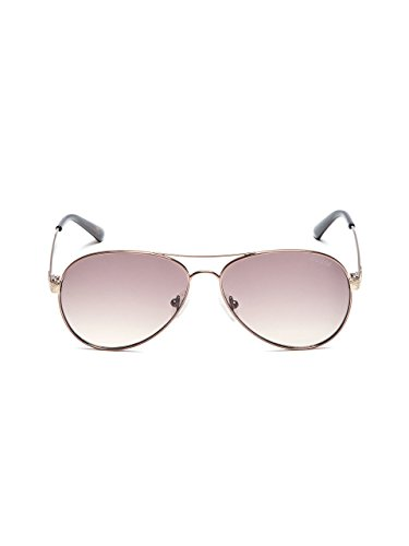 GUESS Women's Glitter Aviator - Face Sunglasses Triangle