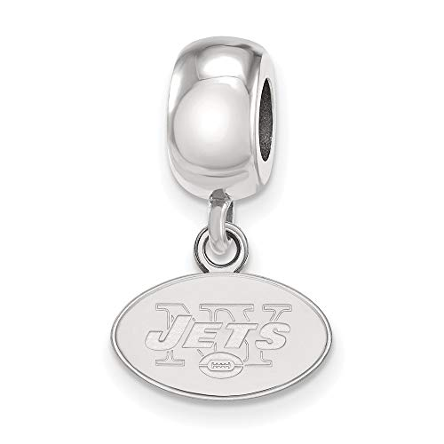 NFL Sterling Silver New York Jets Bead Charm XS Dangle