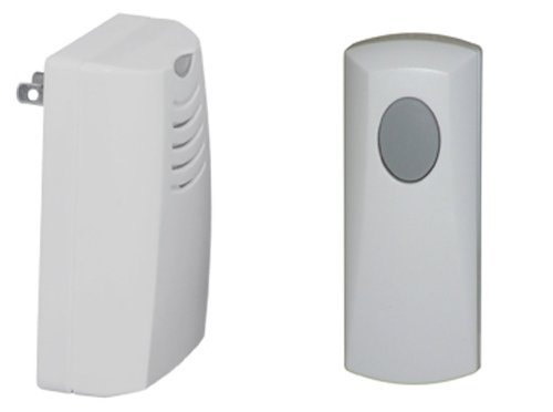 (Honeywell RCWL105A1003/N Plug-in Wireless Doorbell / Door Chime and Push Button)