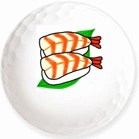 Amazon 海老寿司のイラストを印刷してお届け無地専用ゴルフ