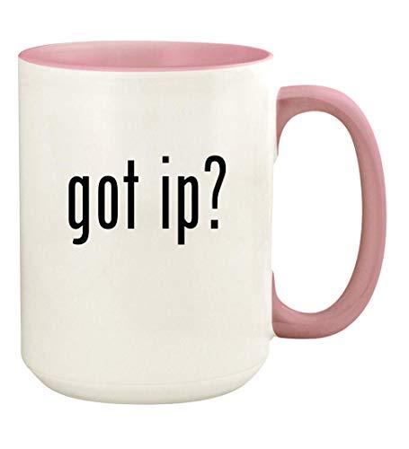 - got ip? - 15oz Ceramic Colored Handle and Inside Coffee Mug Cup, Pink