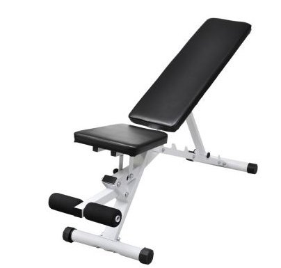 SKB Family Fitness Workout Utility Bench Adjustable Back with Leg Curl studio home gym by SKB Family