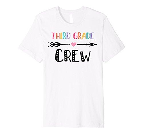 3rd Grade Crew Colorful Teacher Back To School Gift Shirt -