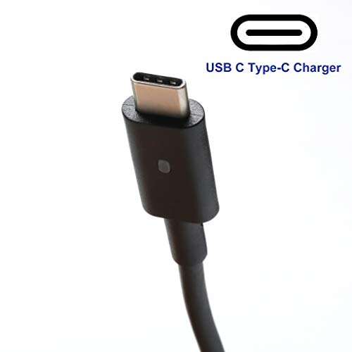 65W Type-C Charger Laptop Power Cord Fit for Dell Latitude 12 5285 5289 5290 7212 7275 7285 7290, XPS 13 9350 9360 9365 9370